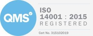 ISO 14001:2015 logo - environmental responsibility